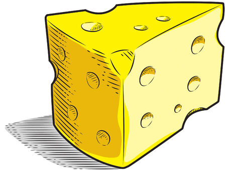 A slice of Swiss Cheese