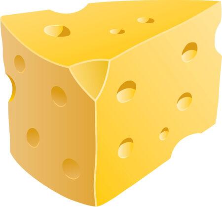 チーズのくさびの隔離された図  イラスト・ベクター素材