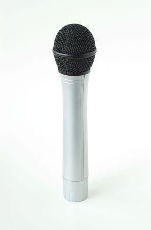 Battery powered wireless microphone Banco de Imagens