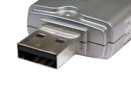 Portable USB device such as a wireless adapter or portable storage. Stock fotó