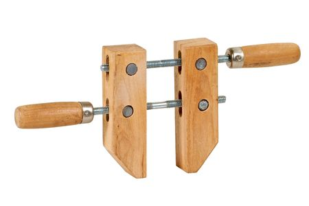 Wooden woodworking screw clamp.