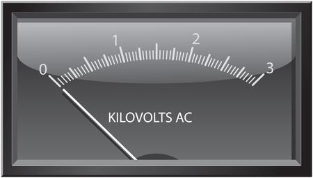 Quadrante o rullini-tipo contatore chilovolt analogico. Archivio Fotografico - 6399112