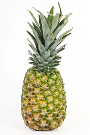 Isolated image of a pineapple on white background.