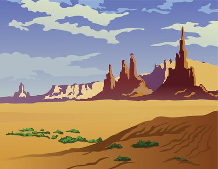 アリゾナ州の砂漠の風景です。