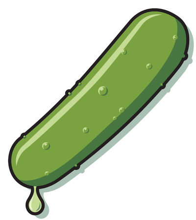 Isolated illustration of a pickle