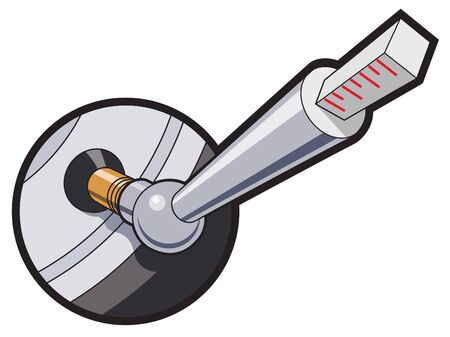 pressure gauge: Using a pressure gauge to check automobile tire pressure.