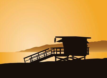 Het leven wachttoren in Los Angles Californië.