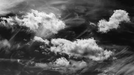 Dramatic Black and White Sky