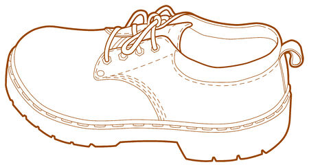 A line illustration of a mans left shoe