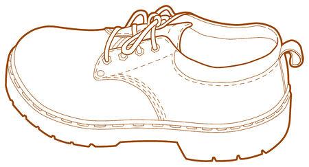 A line illustration of a mans left shoe