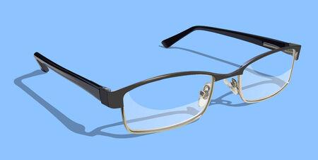 Leesbril op gekleurde achtergrond. Stock Illustratie