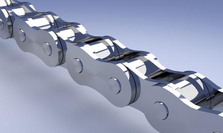 Chrome bike or motorcycle chain rendering. Stock fotó