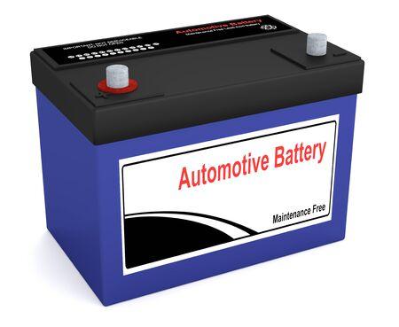 Rendu 3D d'une batterie automobile Banque d'images - 67008777