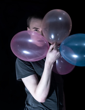 A man with balloon Stock Photo - 12160874