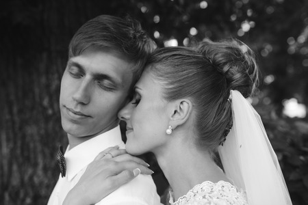 attracive: beautiful young couple tenderly embracing each other