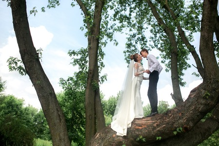 beautiful couple spends a fun time in the park