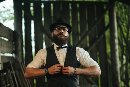 greem: bearded man with a very interesting look