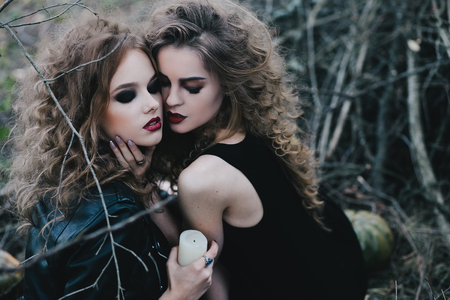 beldam: Two vintage witches gathered for the sabbat eve of Halloween