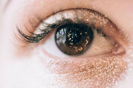 brow: Eye brow make-up Stock Photo