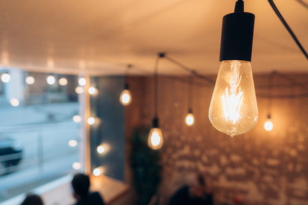 Burning an incandescent edison lamp