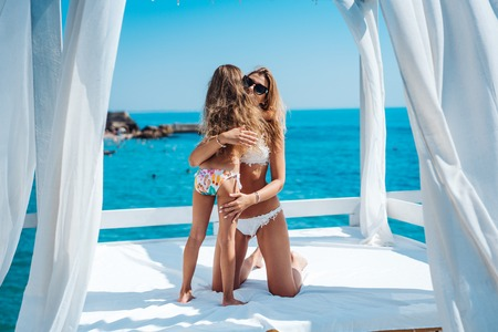 Mom and daughter spend time together