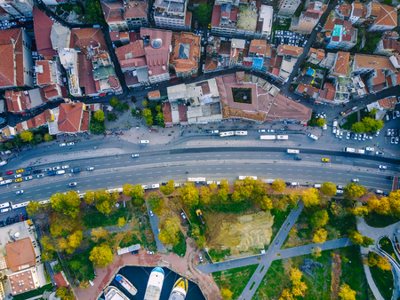Istanbul aerial survey Stock Photo