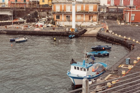 Berth with boats in the town