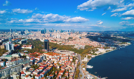 Aerial view of Istanbul Stockfoto