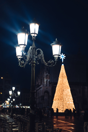 Old street lamp in the city of Venice Stock Photo