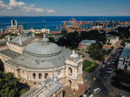 Birds eye view of a beautiful building. 写真素材
