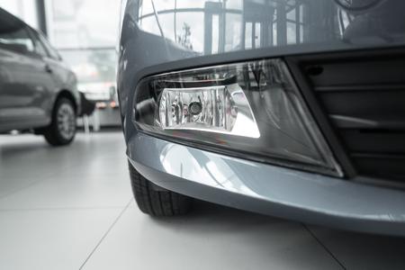 Car fog light of new white car close up 版權商用圖片