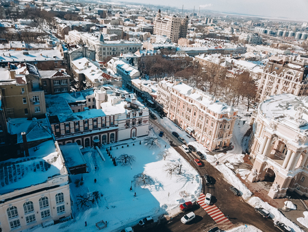Odessa Opera and Ballet Theater with a birds eye view 写真素材 - 118475150