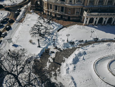 Odessa Opera and Ballet Theater with a birds eye view
