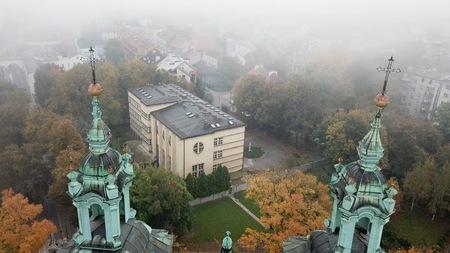 Aerial View of Krakow, Wawel Royal Castle,