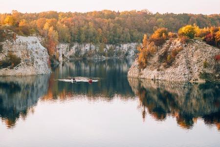Twardowski Rocks Park, an old flooded stone mine, in Krakow, Poland.