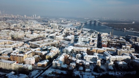 Panorama of podil in kiev