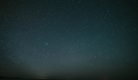 A simple picture of a beautiful starry sky far away from the city lights