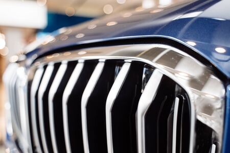 Radiator grille of the car, close up 스톡 콘텐츠