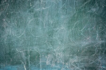 Close up of Old blackboard with white chalk background, Grunge texture. Dark wallpaper.Chalkboard Wall.