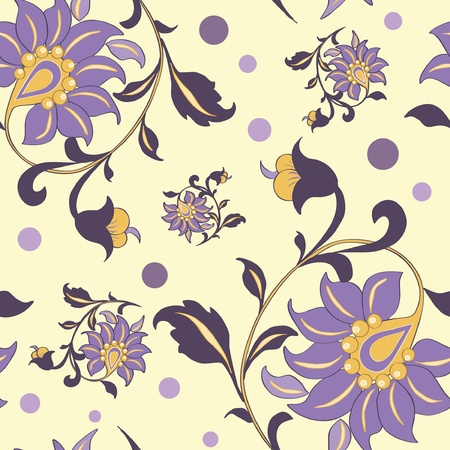 flower: floral seamless pattern Illustration