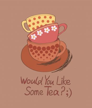 would: Vuoi una tazza di t�;