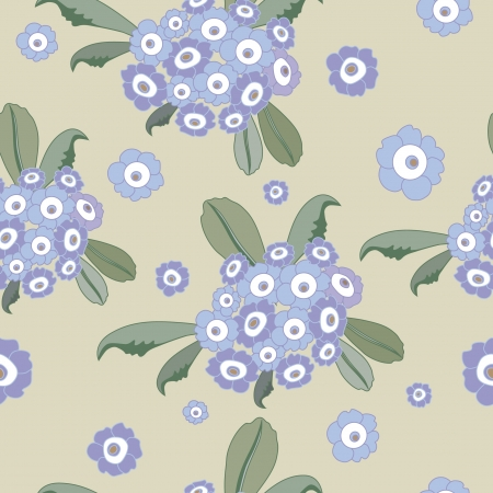 Original seamless floral pattern  Vector