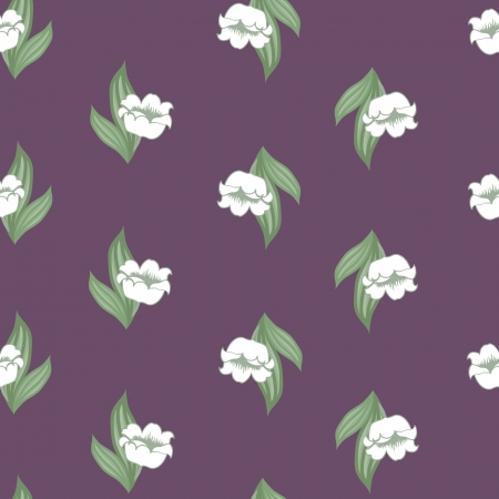 Original seamless floral pattern with lily of the valley  Vector