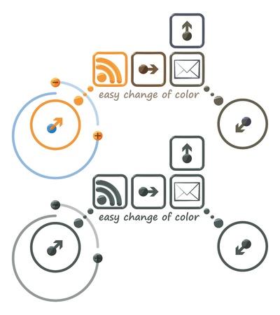 easy change of color icons Illusztráció