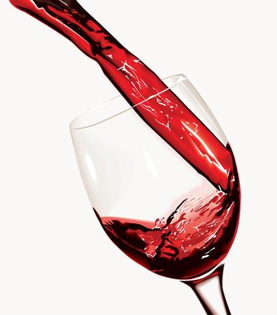 wine pouring: Versare il vino rosso (vector) Vettoriali