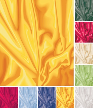 Satin swirls in nine different colors Vector