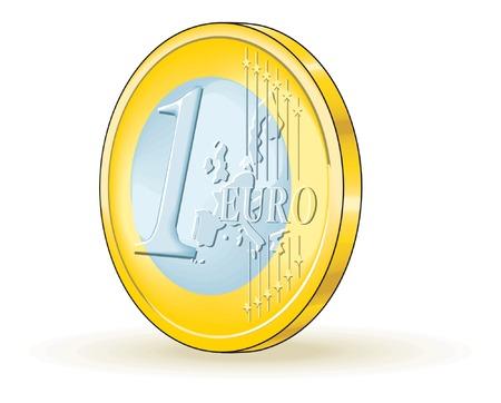 trade union: One euro coin Illustration