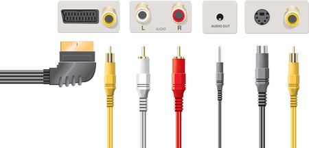 rca: Input jacks with cable Illustration