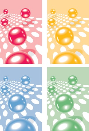 Jumping vector spheres Stock Vector - 4067746