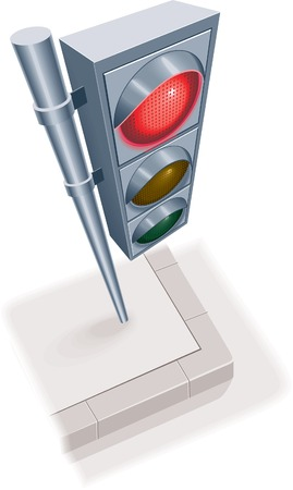 Traffic light. Red Vector